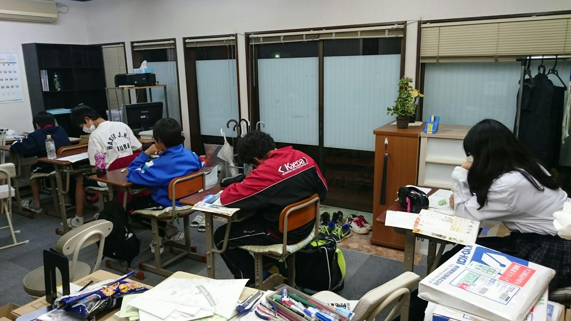 三浦市の定期テスト対策の勉強風景